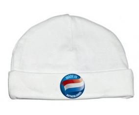 Bonnet bébé personnalisé Made in NETHERLANDS