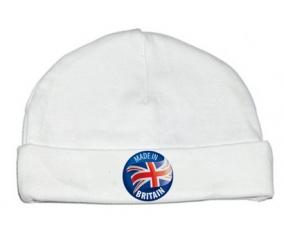 Bonnet bébé personnalisé Made in BRITAIN