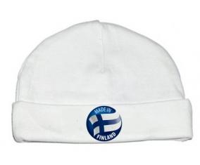 Bonnet bébé personnalisé Made in FINLAND