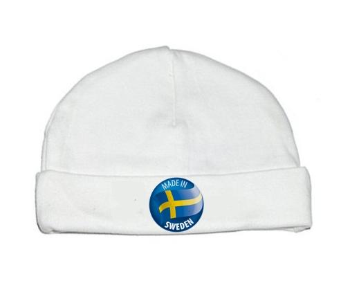 Bonnet bébé personnalisé Made in SWEDEN