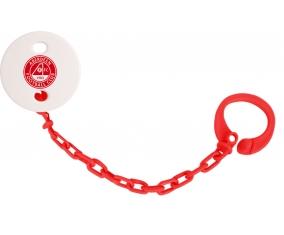 Attache-sucette Aberdeen Football Club couleur Rouge