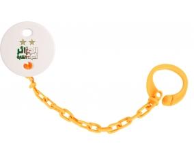 Attache-tétine 2 étoiles Algérie champions d'afriques couleur Orange