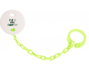 Attache-tetine 1 - 2 - 3 Viva L'algérie couleur Verte