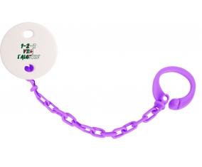 Attache-tetine 1 - 2 - 3 Viva L'algérie couleur Violet