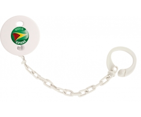 Attache-sucette Made in GUYANA couleur Blanc