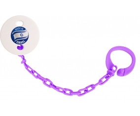 Attache-tétine Made in ISRAEL couleur Violet