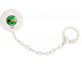 Attache-sucette Made in JAMAICA couleur Blanc