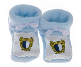 Chausson bébé Futebol Clube Famalicão de couleur Bleu