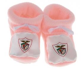 Chausson bébé Clube Desportivo Santa Clara de couleur Rose