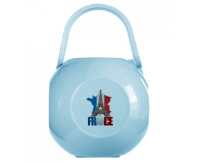 Boîte à sucette Carte France + Tour Eiffel de couleur Bleue