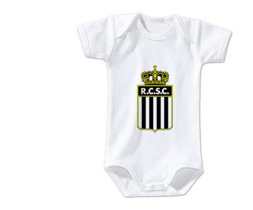 Body bébé Royal Charleroi Sporting Club taille 3/6 mois manches Courtes