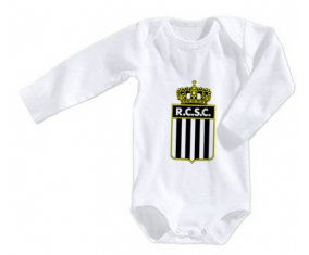 Body bébé Royal Charleroi Sporting Club taille 3/6 mois manches Longues