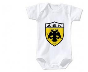 Body bébé AEK Athènes FC taille 3/6 mois manches Courtes