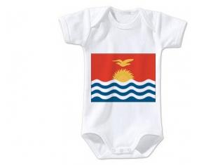 Body bébé Drapeau Kiribati taille 3/6 mois manches Courtes