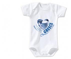 Body bébé I Love Greece maps taille 3/6 mois manches Courtes