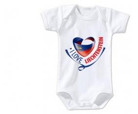 Body bébé I Love Liechtenstein maps taille 3/6 mois manches Courtes