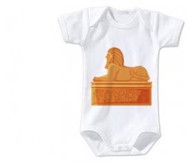 Body bébé Statue de sphinx égyptien taille 3/6 mois manches Courtes