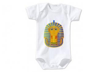 Body bébé Symbole de masque doré pharaon de Toutânkhamon taille 3/6 mois manches Courtes