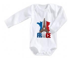 Body bébé Carte France + Tour Eiffel taille 3/6 mois manches Longues