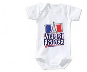 Body bébé Vive la France taille 3/6 mois manches Courtes