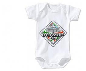 Body bébé Collosseum Rome taille 3/6 mois manches Courtes