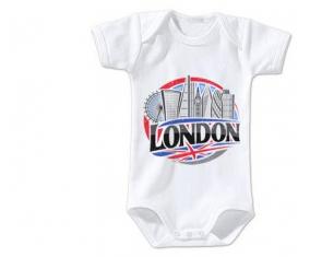 Body bébé Ville de London taille 3/6 mois manches Courtes
