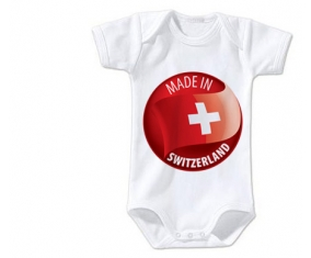 Body bébé Made in SWITZERLAND taille 3/6 mois manches Courtes