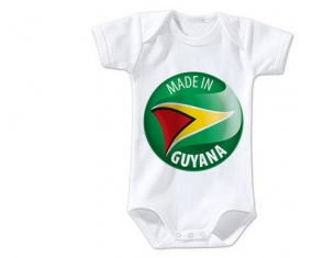 Body bébé Made in GUYANA taille 3/6 mois manches Courtes