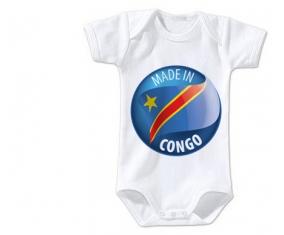 Body bébé Made in CONGO taille 3/6 mois manches Courtes