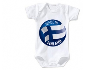 Body bébé Made in FINLAND taille 3/6 mois manches Courtes