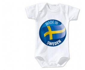 Body bébé Made in SWEDEN taille 3/6 mois manches Courtes