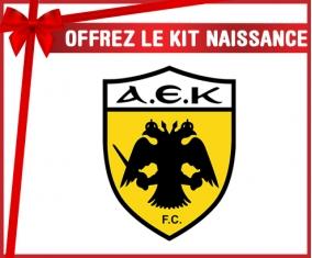kit naissance bébé personnalisé AEK Athènes FC