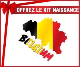 kit naissance bébé personnalisé Belgium maps