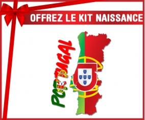 kit naissance bébé personnalisé Portugal maps