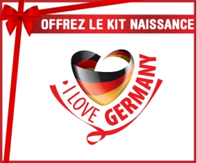 kit naissance bébé personnalisé I Love Germany