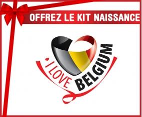 kit naissance bébé personnalisé I Love Belgium