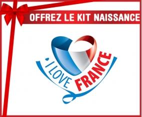 kit naissance bébé personnalisé I Love France maps