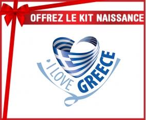 kit naissance bébé personnalisé I Love Greece maps