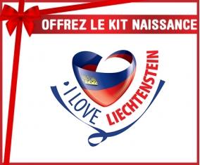 kit naissance bébé personnalisé I Love Liechtenstein maps