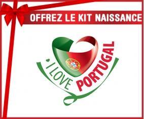 kit naissance bébé personnalisé I Love Portugal