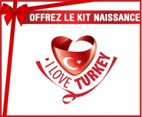 kit naissance bébé personnalisé I Love Turkey