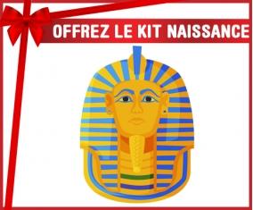 kit naissance bébé personnalisé Symbole de masque doré pharaon de Toutânkhamon