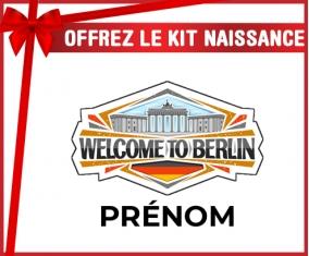 kit naissance bébé personnalisé Welcome to Berlin avec prénom