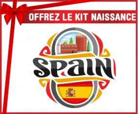 kit naissance bébé personnalisé Flag Spain