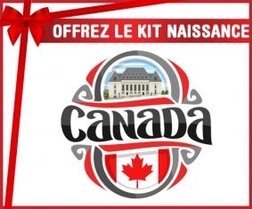 kit naissance bébé personnalisé Flag Canada