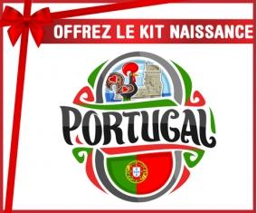 kit naissance bébé personnalisé Flag Portugal