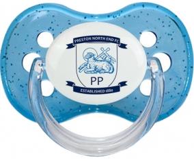 Preston North End Football Club Tétine Cerise Bleu à paillette