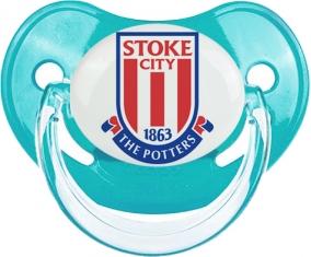Stoke City Football Club Tétine Physiologique Bleue classique