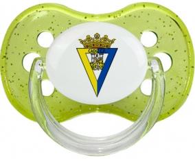 Cádiz Club de Fútbol Tétine Cerise Vert à paillette