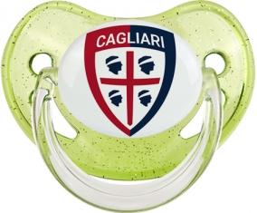 Cagliari Calcio Tétine Physiologique Vert à paillette
